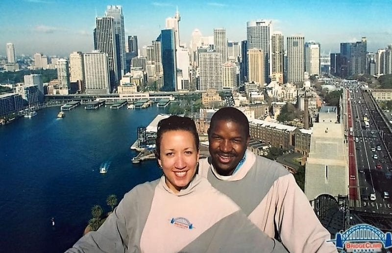 Autumn and Rodney - Sydney Harbour Bridge Climb