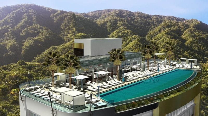 Rooftop view of Hotel Mousai