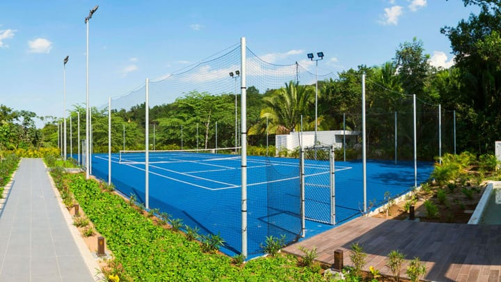 tennis courts at Mousai hotel