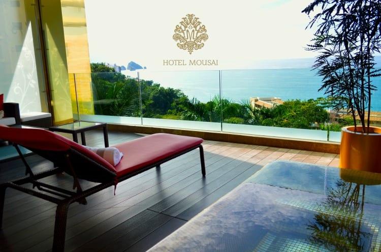 Hotel Mousai suite deck view