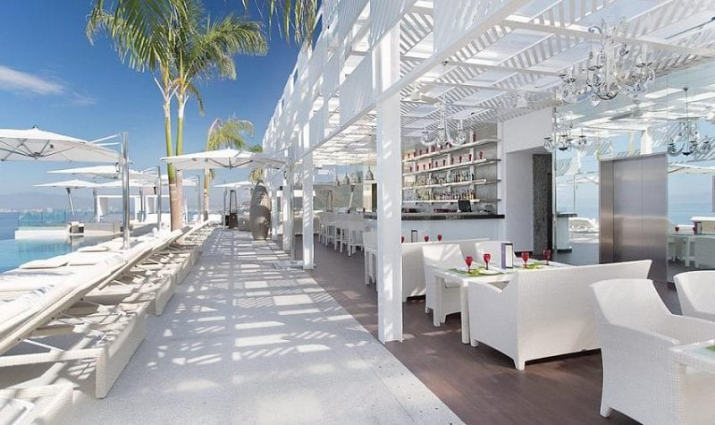 Mousai hotel rooftop lounge and bar