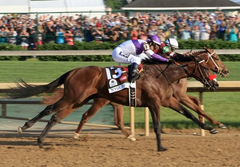Nyquist headed for the wine! Photo credit: Rick Freudenberger | 142nd Kentucky Derby