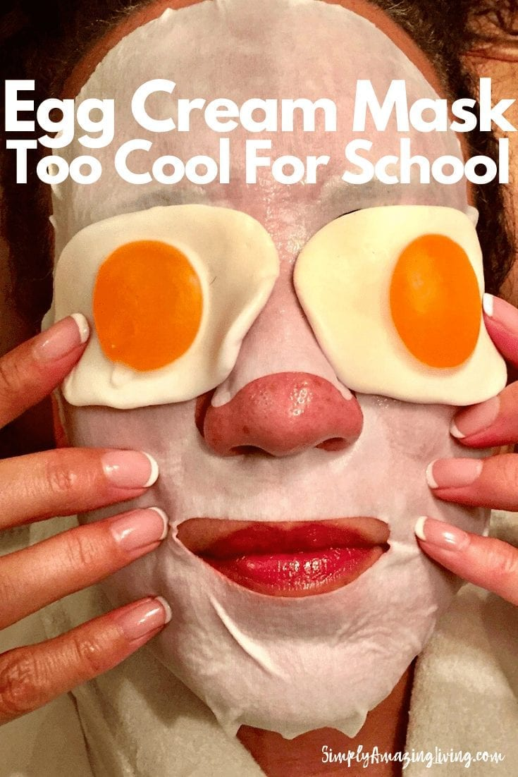 Too Cool for School Egg Cream Mask Pin