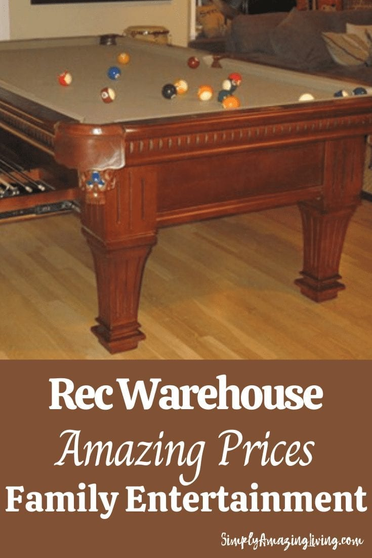 Rec Warehouse Pool Table Pin