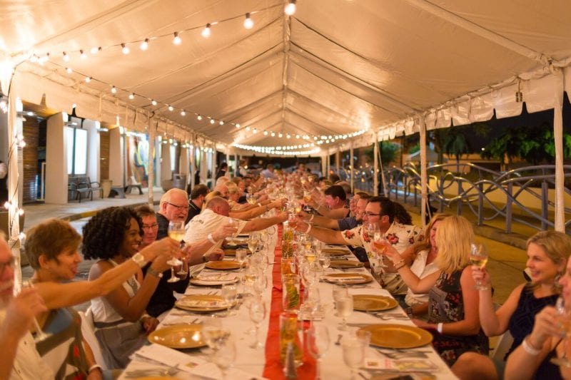 Long Table at the Station on Ann Maria Island