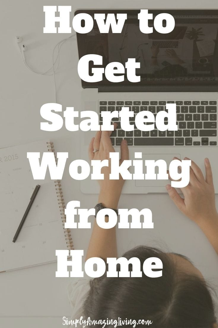 How to get started working from home pin