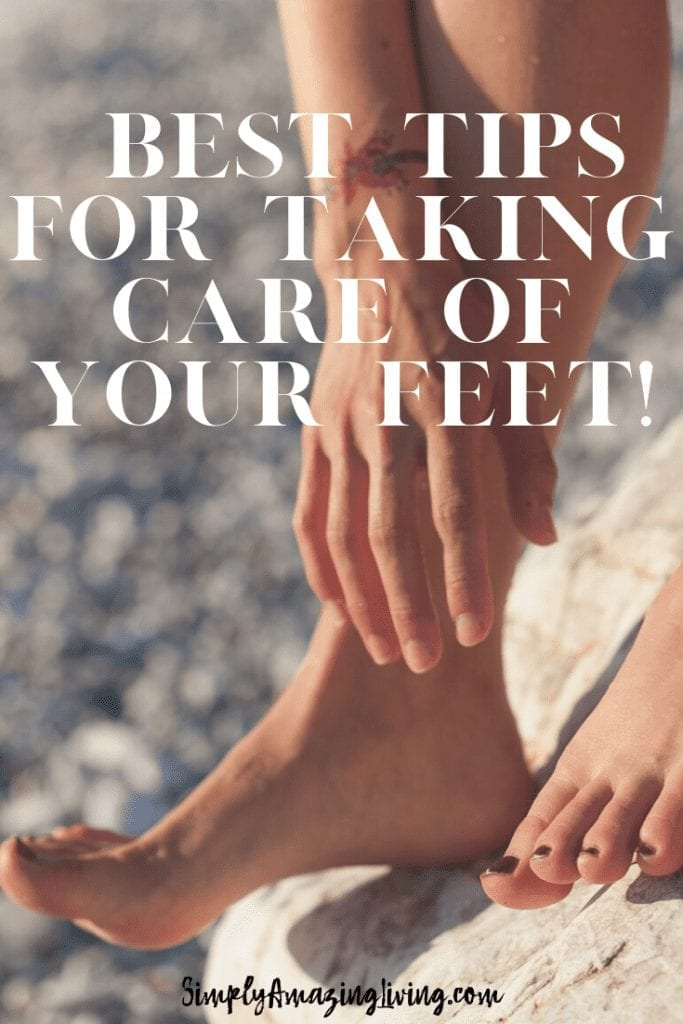 Take Care of Your Feet Pin
