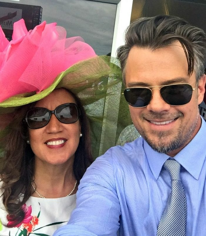 Josh Duhamel at 142nd Kentucky Derby in G.H. Mumm Champagne Suite