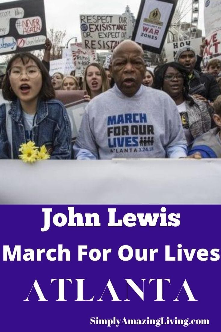 John Lewis at March For Our Lives Atlanta