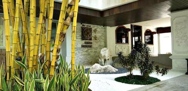 Sino House Hotel featuring Raintree Spa and Glass House retaurant.