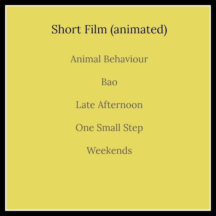 2019 Academy Award Nominations - Complete List #SimplyAmazingLiving