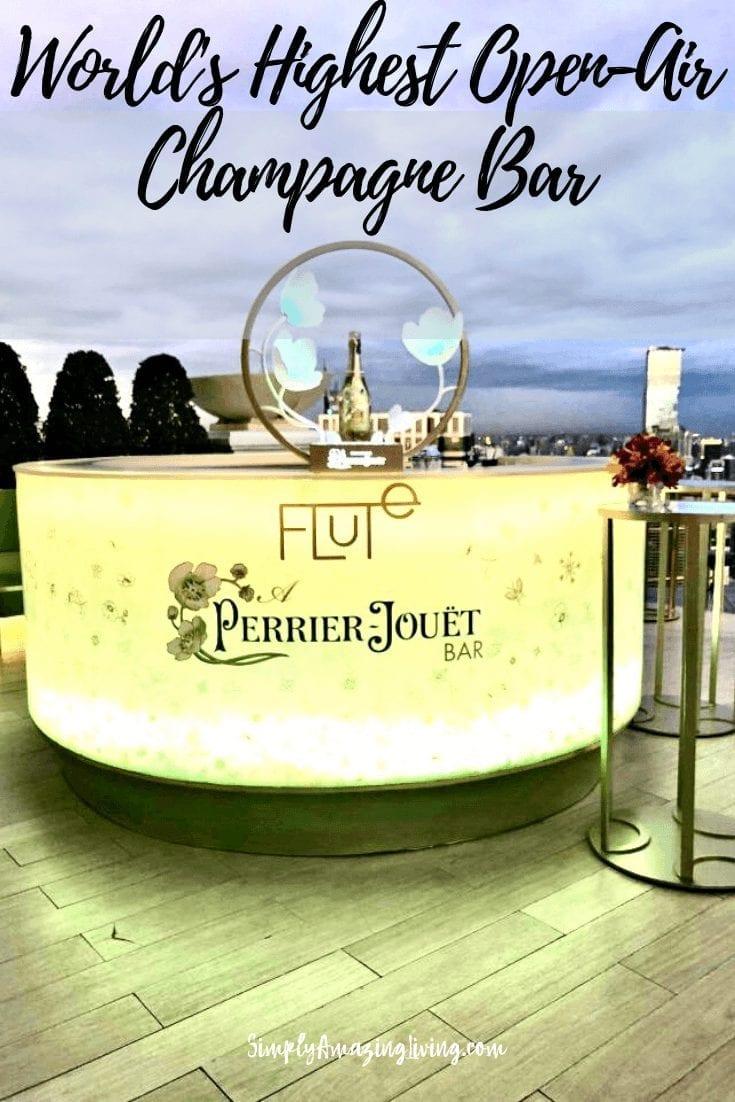World's Highest Open-Air Champagne Bar Pin
