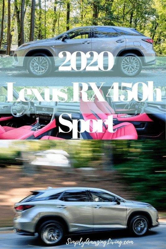 Lexus 2020 RX 450h F Sport Pin