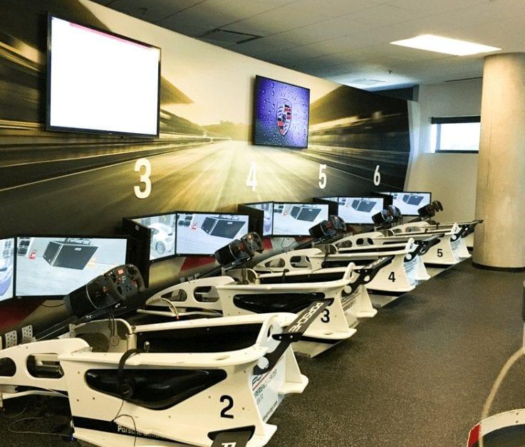 Simulator Lab Porsche Drive Experience Center of Atlanta