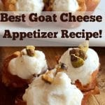 Goat Cheese Prosciutto Cups Appetizer