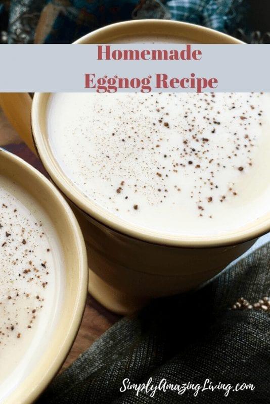 Homemade Eggnog Reicpe