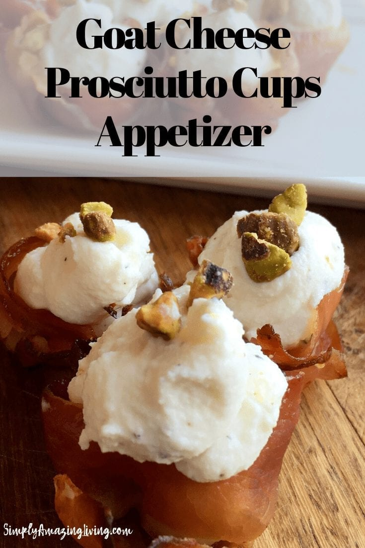 Goat Cheese Prosciutto Cups Pin