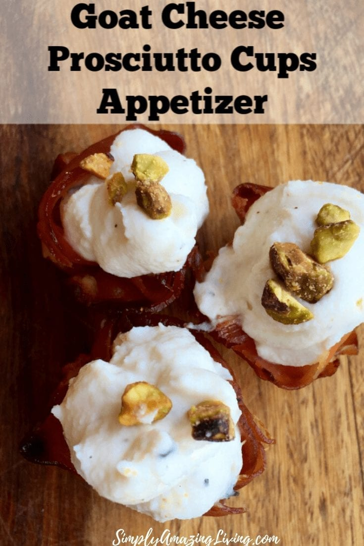 Goat Cheese Prosciutto Cups Pin 3