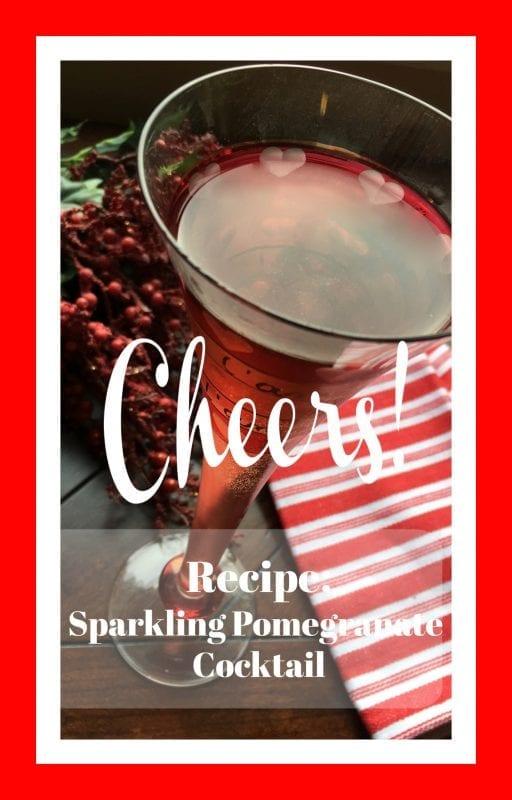 Sparkling Pomegranate Cocktail Recipe Pin