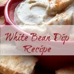 White Bean Dip with Seasoned Baked Pita Chips Recipe