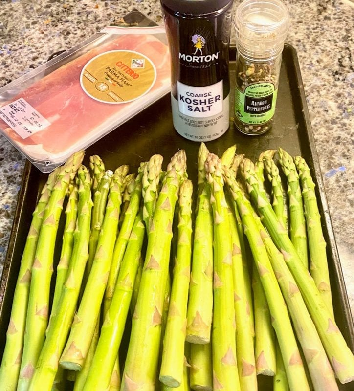 Prosciutto Wrapped Asparagus Recipe ingredients