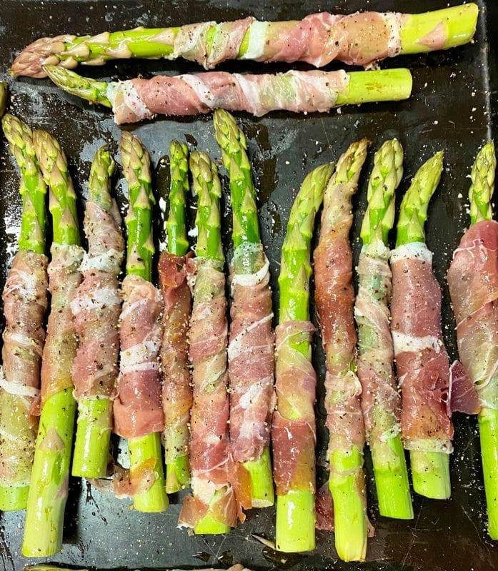 Prosciutto Wrapped Asparagus Pin Recipe steps