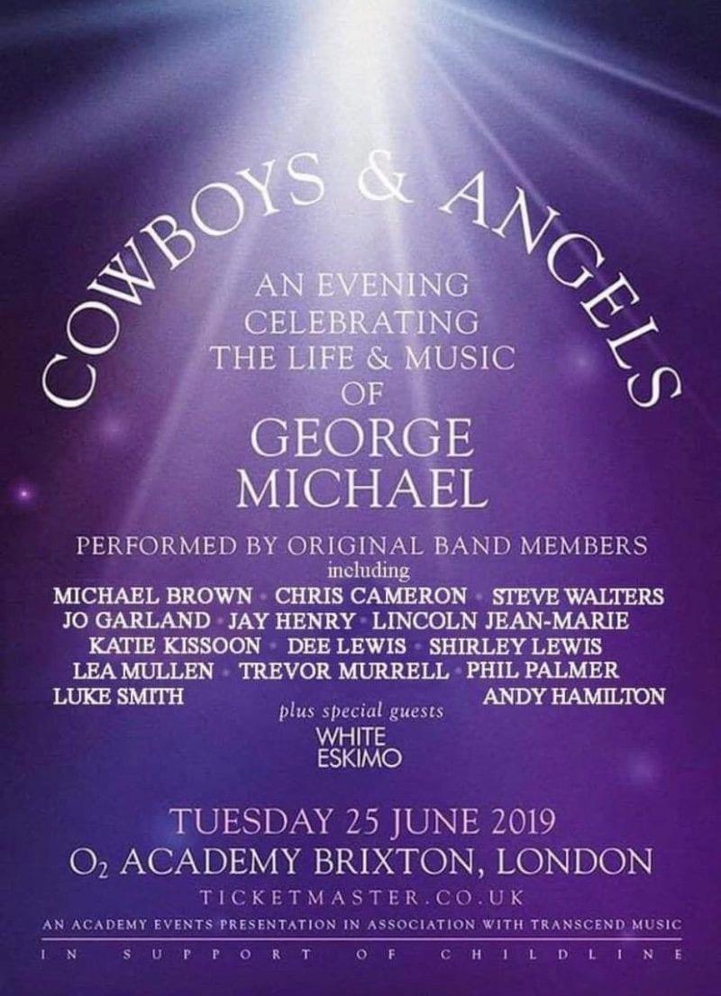 George Michael Tribute. Cowboys & Angels Concert Promotional Flyer