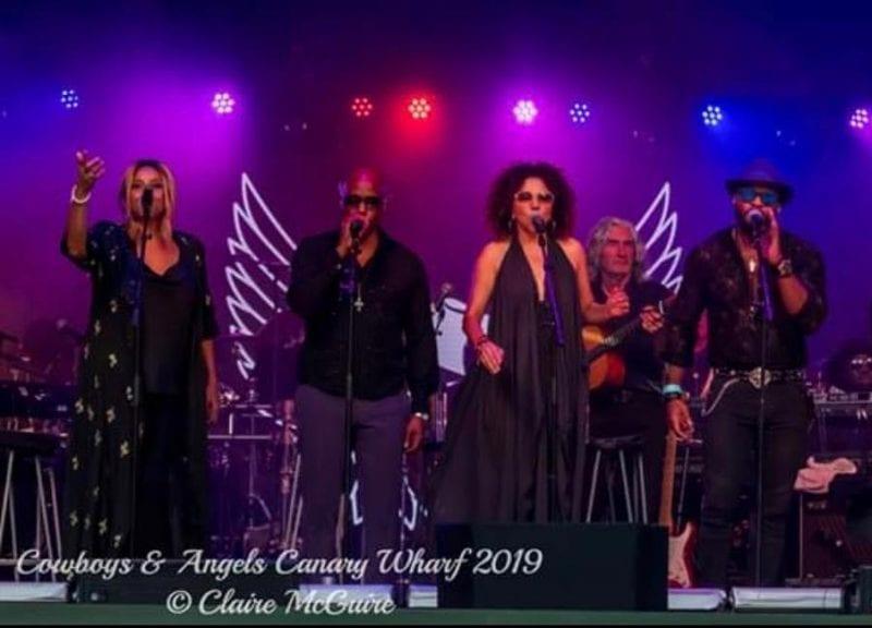 George Michael Band at Cowboys N Angels Concert