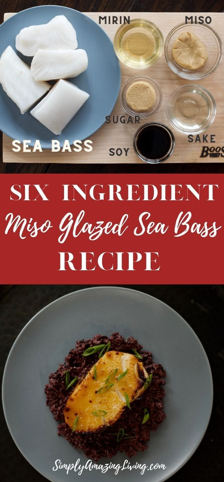 Chef Cyndi Sterne's Miso Glazed Sea Bass Recipe Pin 2