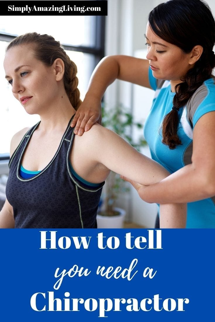 Signs you need a chiropractor post pin image