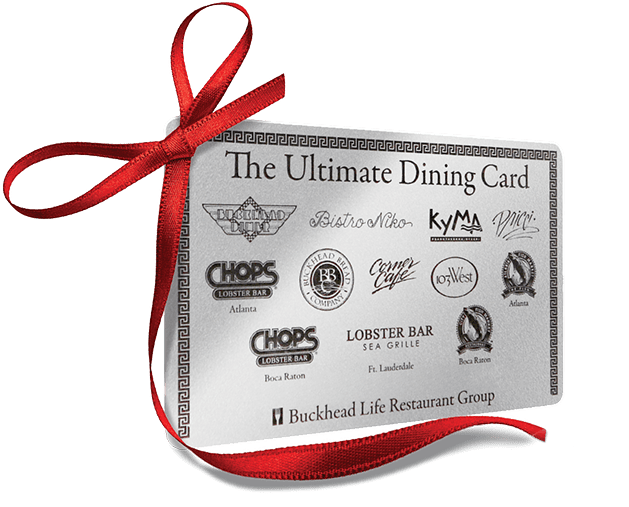 Buckhead Life Restaurant Group The Ultimate Dining Card