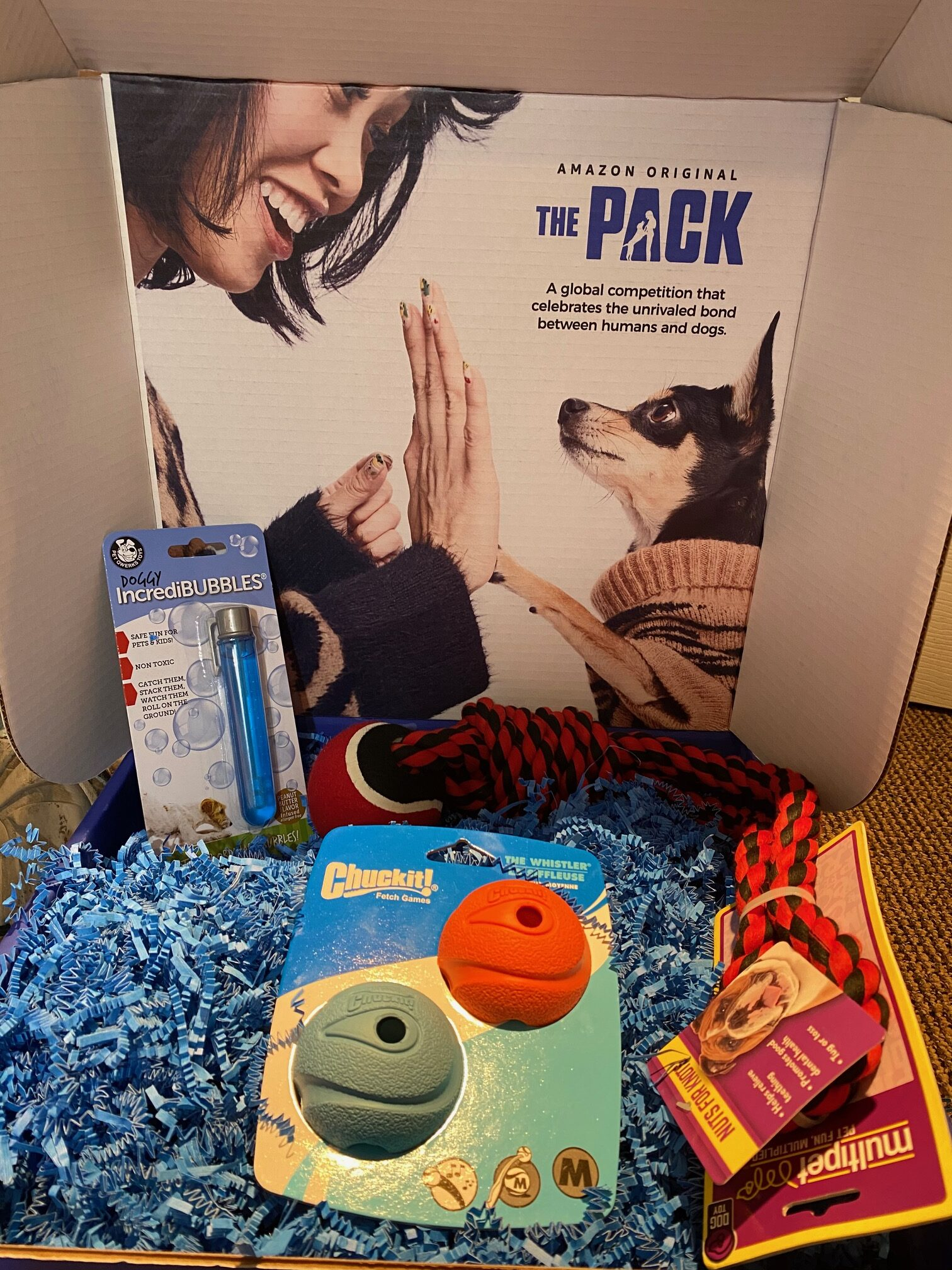The Pack on Amazon Prime Video Babblebox contents image