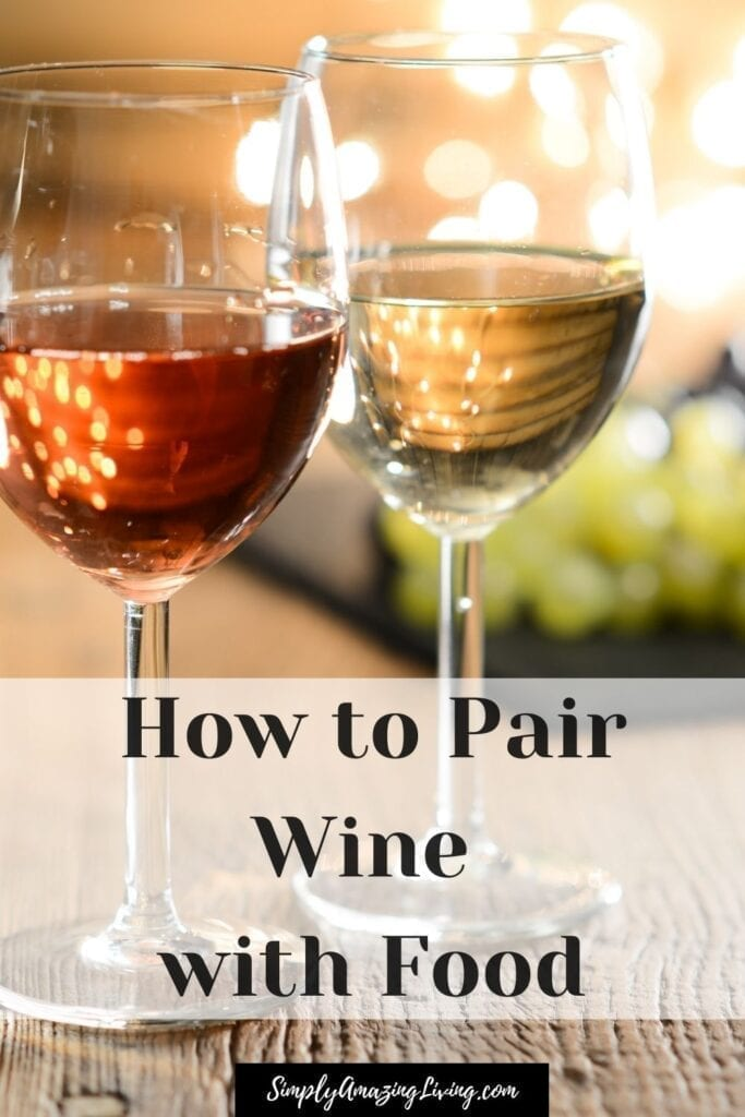 How to Pair wine with food pin